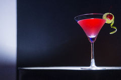 Cherry martini cocktail drink at bar Stock Photos