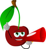 Cherry with megaphone Stock Photography