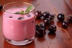 Cherry milk shake royalty free stock image