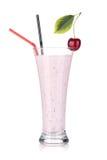Cherry milk smoothie Royalty Free Stock Photos