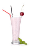Cherry milk smoothie with mint Royalty Free Stock Image