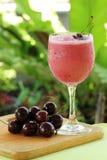 Cherry Milkshake Stock Photo