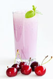 Cherry milkshake Stock Photos