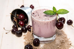 Cherry Milkshake Stock Images