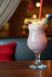 Cherry milkshake Stock Image