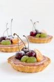 Cherry mini tarts with fruits Stock Photo