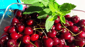 Cherry and mint Stock Image