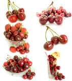 Cherry  mixed. Mixed cherry collection on a white background Stock Photography