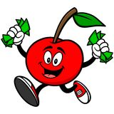 Cherry with Money Stock Photography