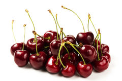 Cherry mountain. On white background stock photography