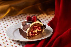 Cherry Mousse Strudel Royalty Free Stock Image
