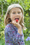 Cherry in the mouth Royalty Free Stock Photography