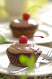 Cherry muffin Royalty Free Stock Photography