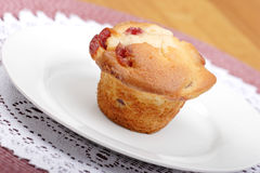 Cherry muffin Stock Images
