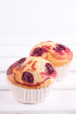 Cherry muffin Stock Photography