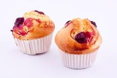 Cherry muffins Stock Photo