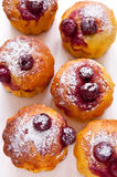 Cherry Muffins imagens de stock royalty free