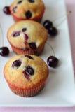 Cherry Muffins Immagini Stock Libere da Diritti