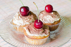 Cherry Muffins Stock Image