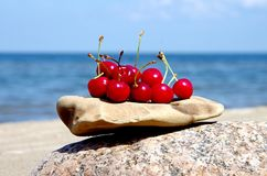 Cherry. Nature, sea, cherry, fruit, summer Stock Images