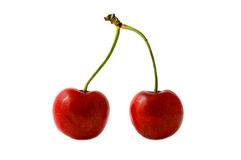 Cherry; objects on white background Royalty Free Stock Photos