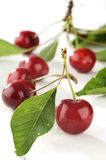 Cherry On A White Table Royalty Free Stock Image