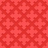 Cherry Ornamental Swirl Background avec le casse-tête de pamplemousse Photo libre de droits