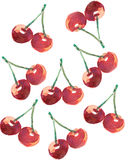The cherry painted hand made Stock Photo