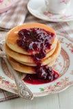 Cherry Pancakes Royalty Free Stock Photos
