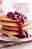 Cherry Pancakes Royalty Free Stock Photo