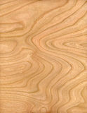 Cherry panel. Section of cherry wood displaying fine grain Stock Images