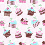 Cherry pastry pattern Royalty Free Stock Photos