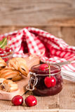 Cherry pastry pies. Royalty Free Stock Photography