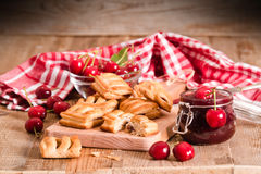 Cherry pastry pies. Stock Images