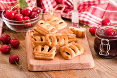 Cherry pastry pies. Stock Photography