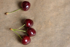 Cherry on a pater Stock Photos
