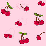 Cherry pattern. A ilustration of cherry pattern, textile stock illustration