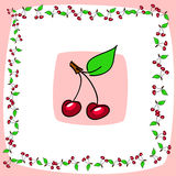 Cherry pattern Stock Photography