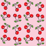 Cherry Pattern Background sans couture Photo stock