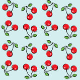 Cherry Pattern Background sem emenda Foto de Stock
