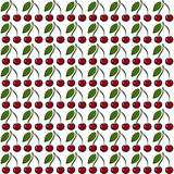Cherry pattern Royalty Free Stock Photos