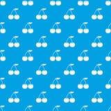 Cherry pattern seamless blue Royalty Free Stock Photo