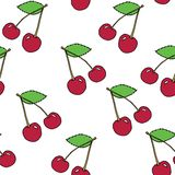 Cherry pattern Royalty Free Stock Photo