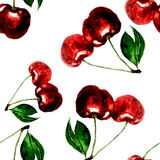 Cherry pattern Royalty Free Stock Image