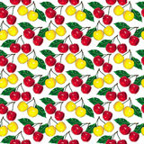 Cherry pattern small Royalty Free Stock Photos