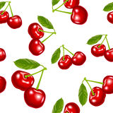 Cherry pattern vector Royalty Free Stock Image