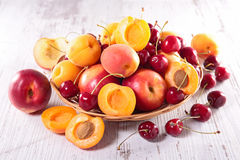 cherry and peach Royalty Free Stock Photography