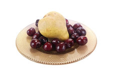 Cherry and pear Royalty Free Stock Photo