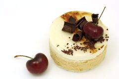 Cherry and pear mousse cake Royalty Free Stock Image