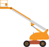 Cherry Picker. An Orange and Grey Cherry Picker Mobile Lift Platform Royalty Free Stock Photo